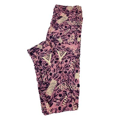 LuLaRoe One Size OS Floral Teepee Triangles Leggings fit Sizes 2-10