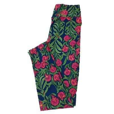 LuLaRoe One Size OS Floral Geometric Leggings fit Sizes 2-10