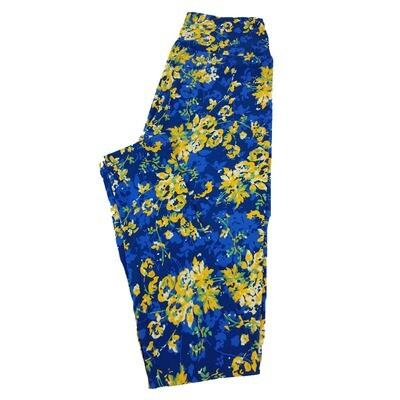 LuLaRoe One Size OS Floral Leggings fit Sizes 2-10