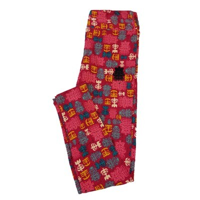 LuLaRoe One Size OS Central American Figures Aztek Incan Leggings fit Sizes 2-10