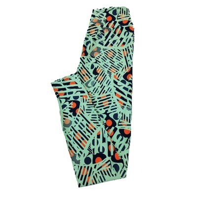 LuLaRoe One Size OS Trippy Stripe Geometric Leggings fit Sizes 2-10
