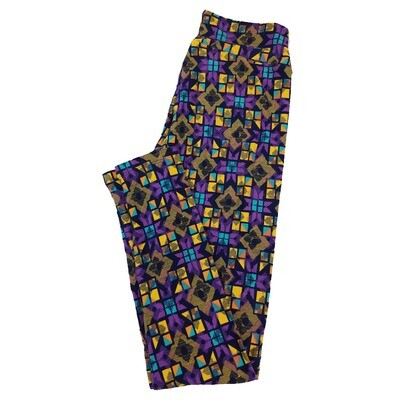 LuLaRoe One Size OS Trippy Geometric Leggings fit Sizes 2-10