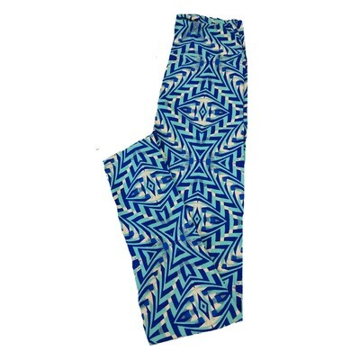 LuLaRoe One Size OS Trippy Eyes Geometric Leggings fit Sizes 2-10