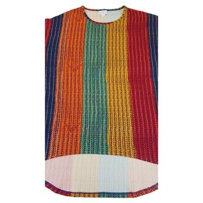 IRMA XX-Small (XXS) LuLaRoe Rainbow Stripe Womens Tunic fits 00-0