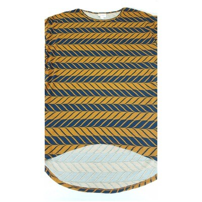 IRMA XX-Small (XXS) LuLaRoe Herringbone Zig Zag Stripe Womens Tunic fits 00-0