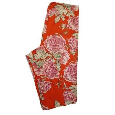 LuLaRoe TC2 Floral Reg Pink Leggings fits Adult Sizes 18+