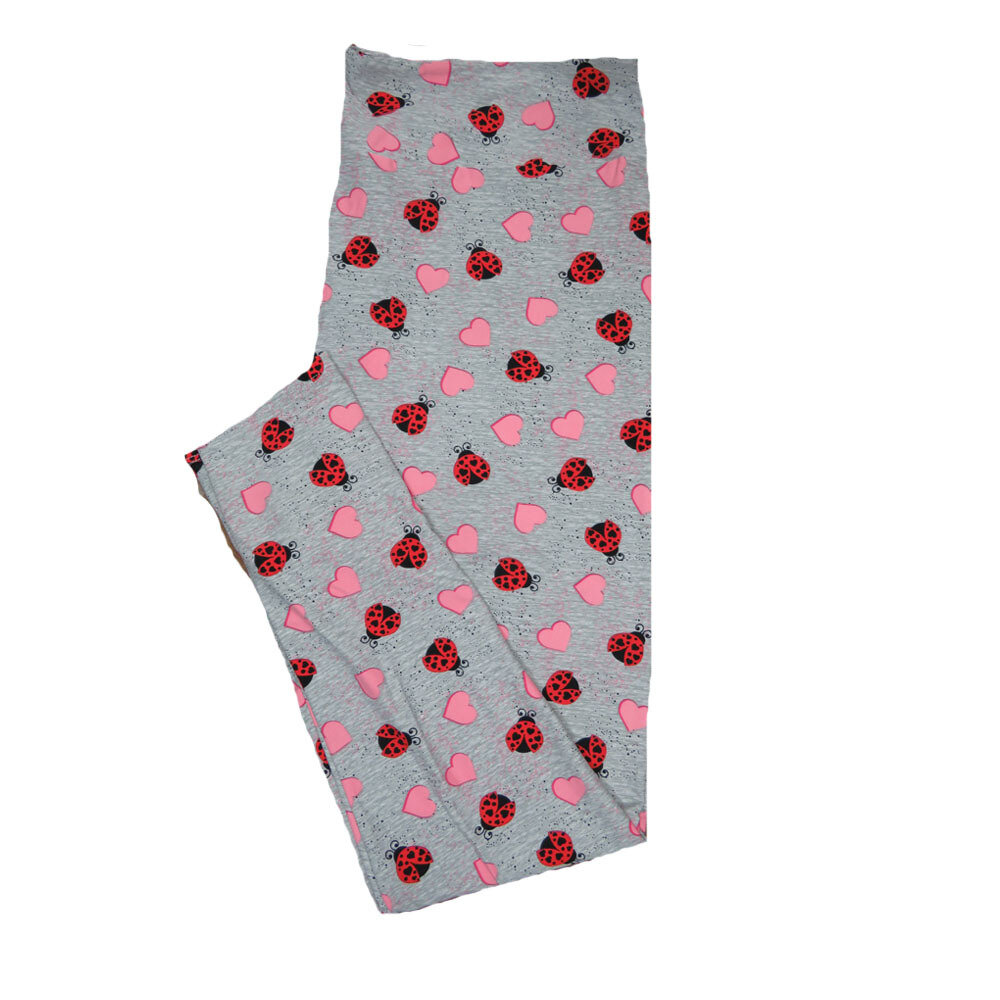 LuLaRoe TC2 ( fits Adult Sizes 18+ ) Valentines Pink Red Roses and Polka Dot Hearts Leggings