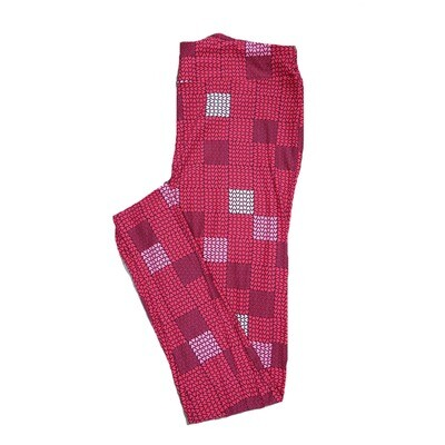 LuLaRoe Tall Curvy ( TC ) Valentines Red White Pink Parquet Micro Polka Dot Hearts Leggings fits Adult sizes 12-18