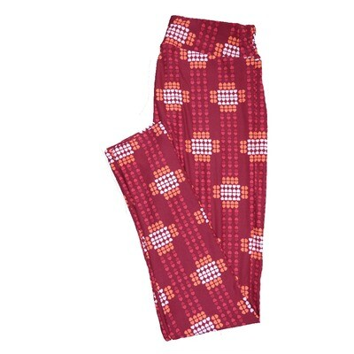 LuLaRoe One Size ( OS ) Valentines Red Green White Polka Dot Hearts Leggings fits Adult sizes 2-10