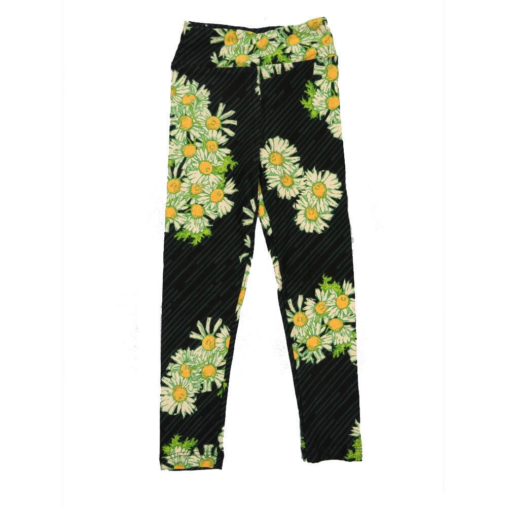 LuLaRoe Kids Small-Medium Floral Stripe Leggings ( S/M fits kids 2-8 ) SM-1002-J