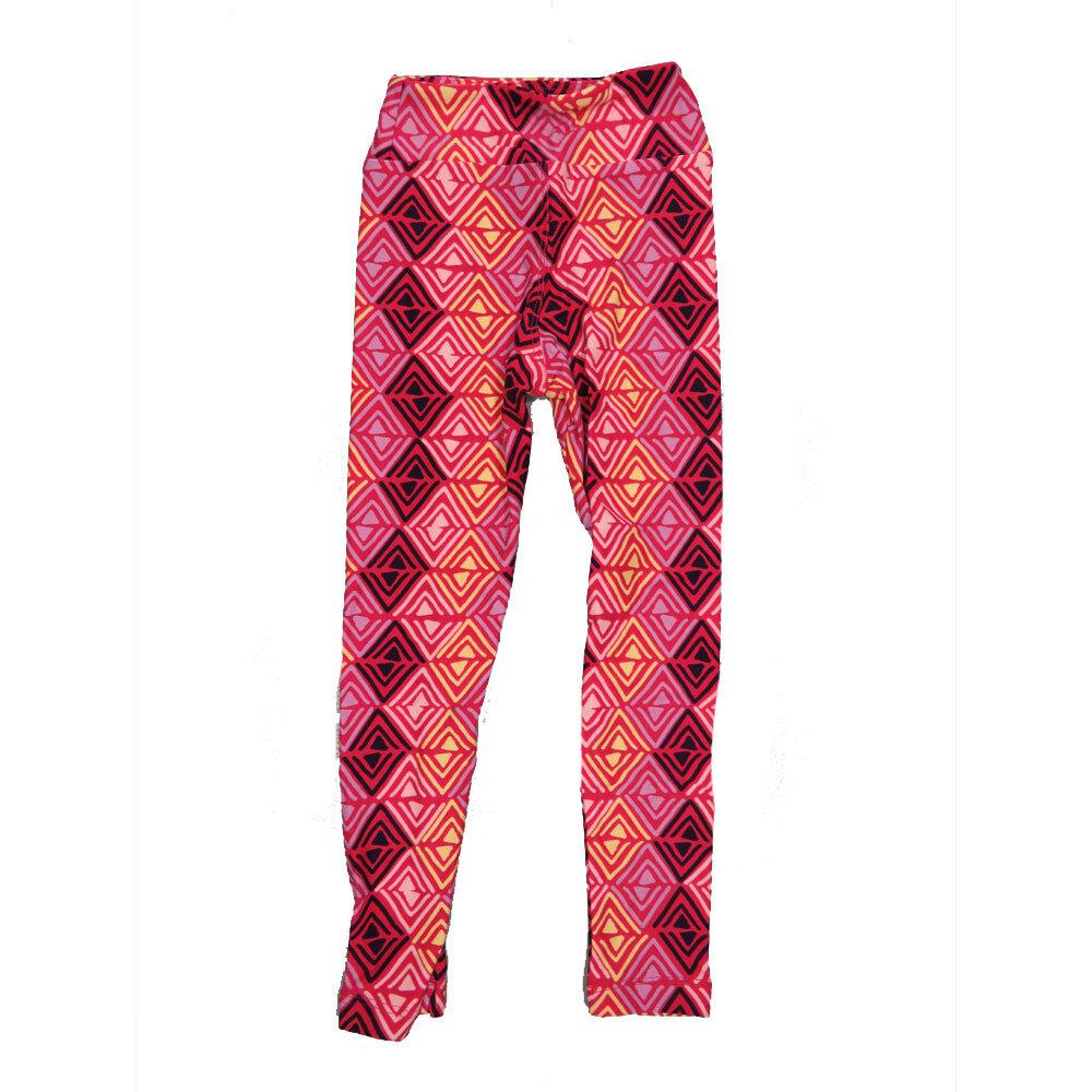LuLaRoe Kids Small-Medium Geometric Zig Zag Stripe Leggings ( S/M fits kids 2-8 ) SM-1002-X