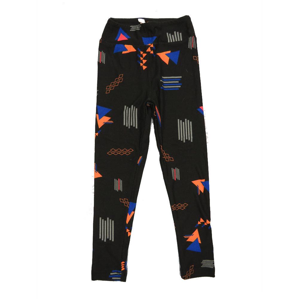 LuLaRoe Kids Small-Medium Geometric Stripe Leggings ( S/M fits kids 2-8 ) SM-1002-Y