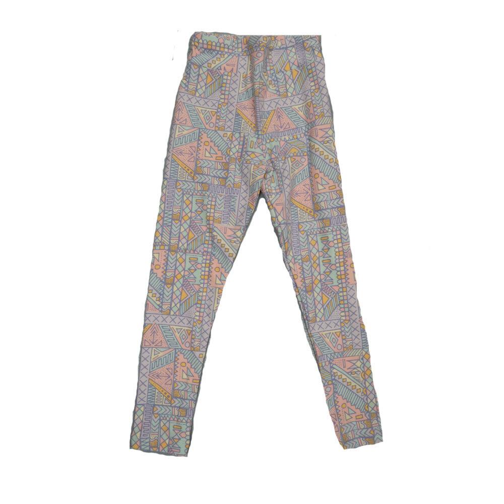 LuLaRoe Kids Small-Medium Geometric Stripe Leggings ( S/M fits kids 2-8 ) SM-1003-B