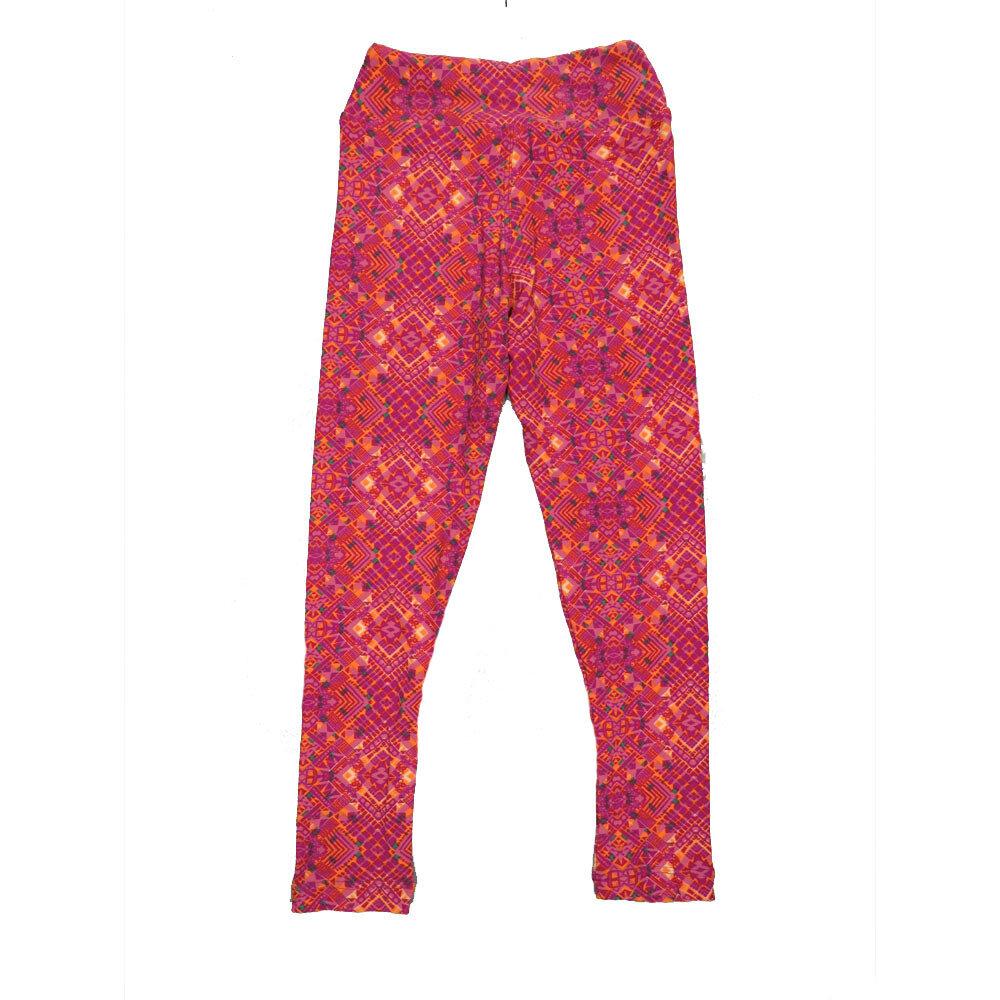 LuLaRoe Kids Small-Medium Geometric Zig Zag Leggings ( S/M fits kids 2-8 ) SM-1003-K