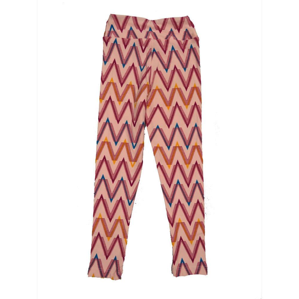 LuLaRoe Kids Small-Medium Geometric Zig Zag Stripe Leggings ( S/M fits kids 2-8 ) SM-1003-S