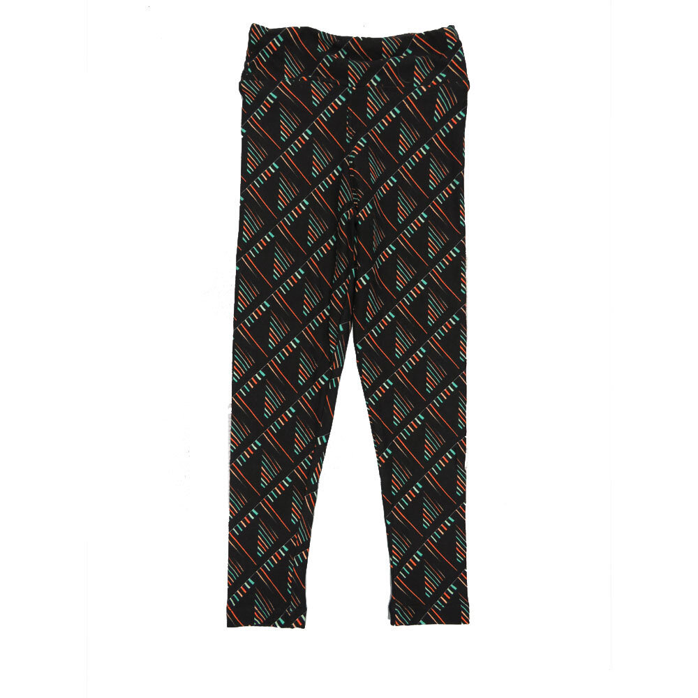LuLaRoe Kids Small-Medium Geometric Stripe Checkerboard Leggings ( S/M fits kids 2-8 ) SM-1003-V