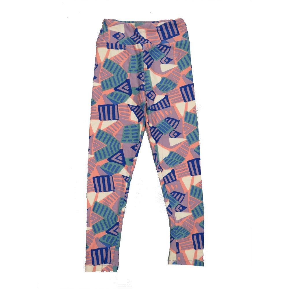 LuLaRoe Kids Small-Medium Geometric Stripe Leggings ( S/M fits kids 2-8 ) SM-1003-Y