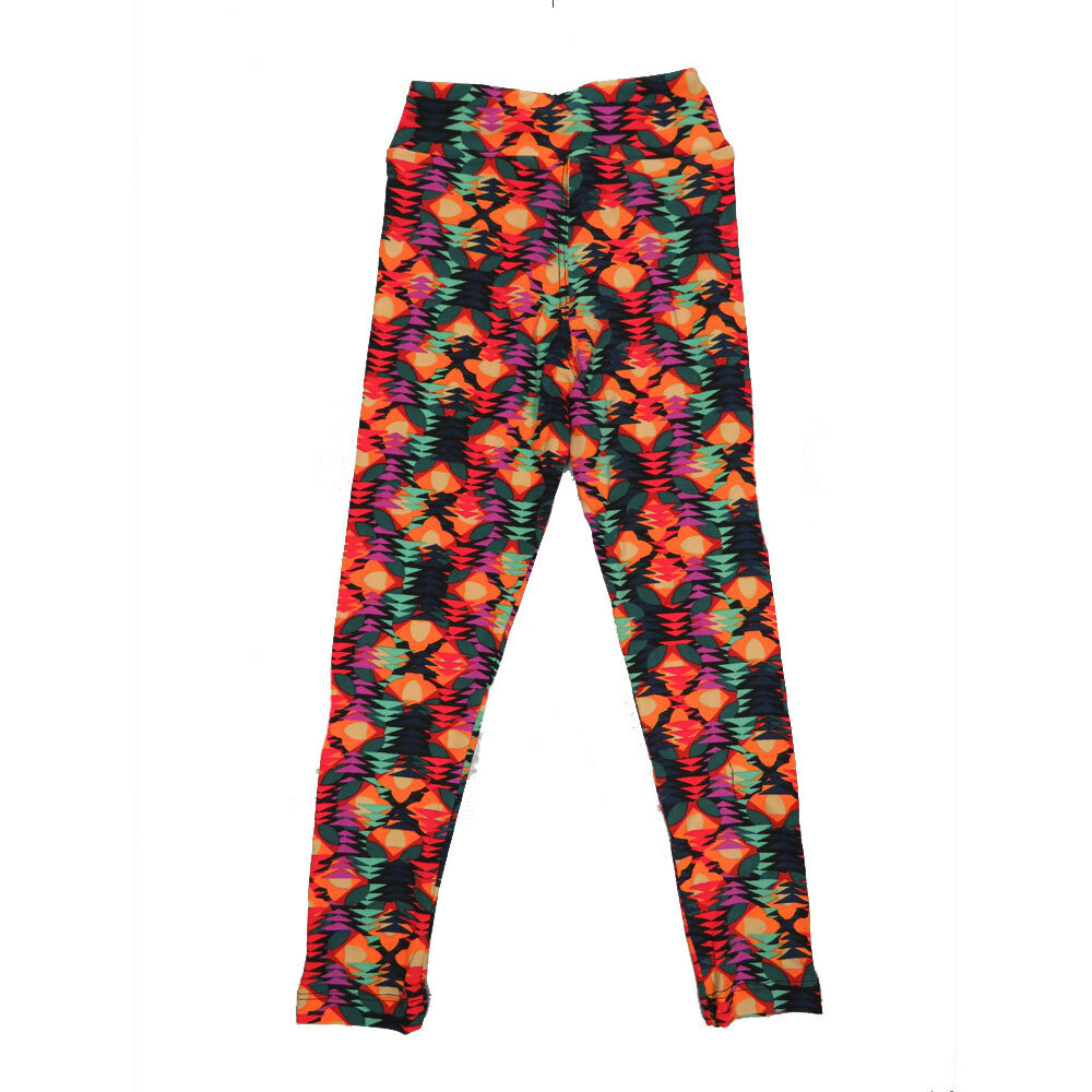 LuLaRoe Kids Small-Medium Geometric Stripe Chevron Leggings ( S/M fits kids 2-8 ) SM-1004-O