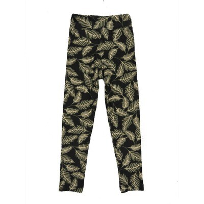 LuLaRoe Kids Small-Medium Leaves Leggings ( S/M fits kids 2-8 ) SM-1005-V