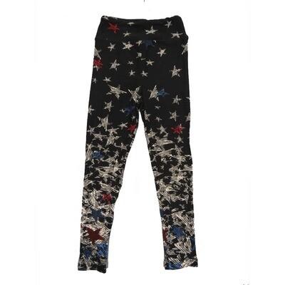 LuLaRoe Kids Small-Medium Americana Falling Stars Leggings ( S/M fits kids 2-8 ) SM-1004-G