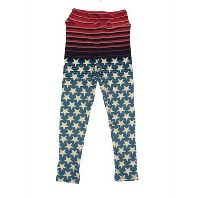 LuLaRoe Kids Small-Medium Americana Stars and Stripes Leggings ( S/M fits kids 2-8 ) SM-1004-B