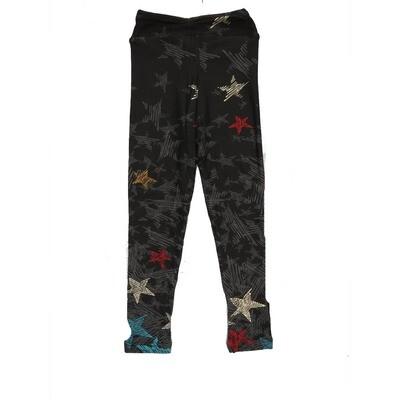 LuLaRoe Kids Small-Medium Americana Falling Stars Leggings ( S/M fits kids 2-8 ) SM-1005-W