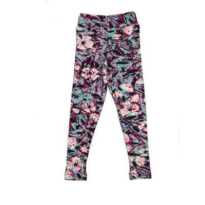 LuLaRoe Kids Small-Medium Floral Geometric Leggings ( S/M fits kids 2-8 ) SM-1001-A
