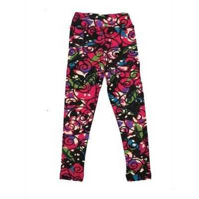 LuLaRoe Kids Small-Medium Floral Geometric Leggings ( S/M fits kids 2-8 ) SM-1001-E