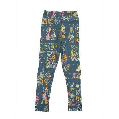 LuLaRoe Kids Small-Medium Floral Geometric Leggings ( S/M fits kids 2-8 ) SM-1001-Q