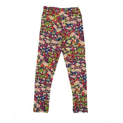 LuLaRoe Kids Small-Medium Floral Geometric Leggings ( S/M fits kids 2-8 ) SM-1001-U