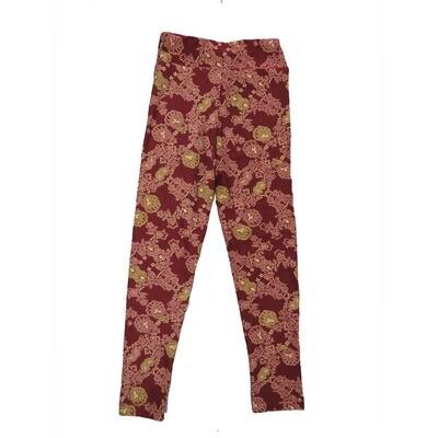 LuLaRoe Kids Small-Medium Floral Geometric Leggings ( S/M fits kids 2-8 ) SM-1002-C