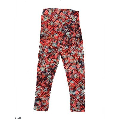 LuLaRoe Kids Small-Medium Floral Geometric Leggings ( S/M fits kids 2-8 ) SM-1002-R