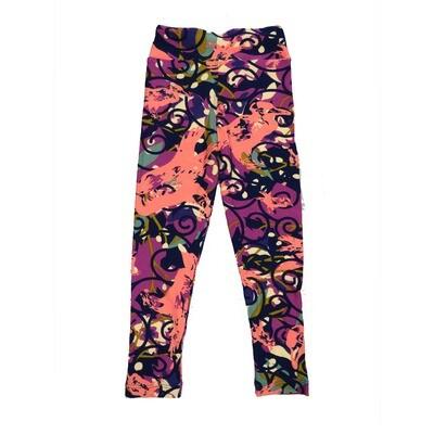 LuLaRoe Kids Small-Medium Floral Geometric Leggings ( S/M fits kids 2-8 ) SM-1006-A