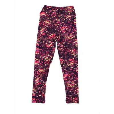 LuLaRoe Kids Small-Medium Floral Geometric Leggings ( S/M fits kids 2-8 ) SM-1002-V