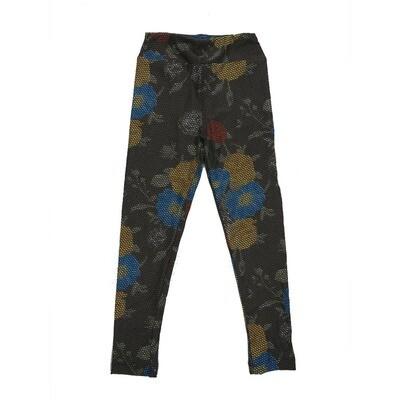 LuLaRoe Kids Small-Medium Floral Geometric Polka Dot Leggings ( S/M fits kids 2-8 ) SM-1002-U
