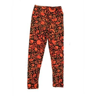 LuLaRoe Kids Small-Medium Floral Leggings ( S/M fits kids 2-8 ) SM-1002-A