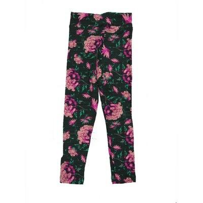 LuLaRoe Kids Small-Medium Floral Leggings ( S/M fits kids 2-8 ) SM-1002-B