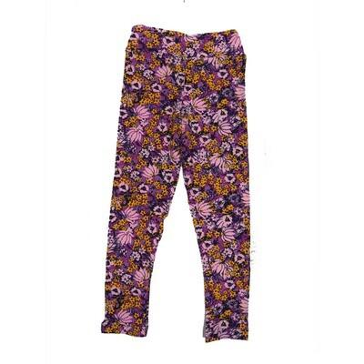 LuLaRoe Kids Small-Medium Floral Leggings ( S/M fits kids 2-8 ) SM-1002-D
