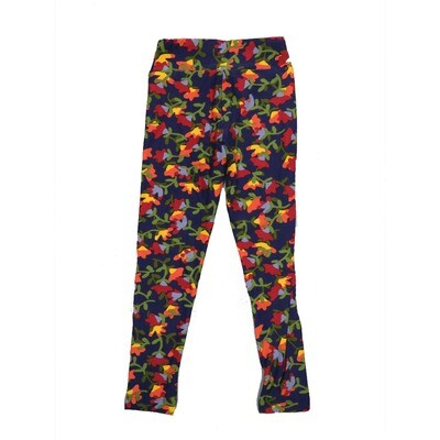 LuLaRoe Kids Small-Medium Floral Leggings ( S/M fits kids 2-8 ) SM-1002-F
