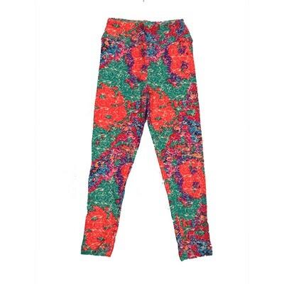 LuLaRoe Kids Small-Medium Floral Leggings ( S/M fits kids 2-8 ) SM-1002-I