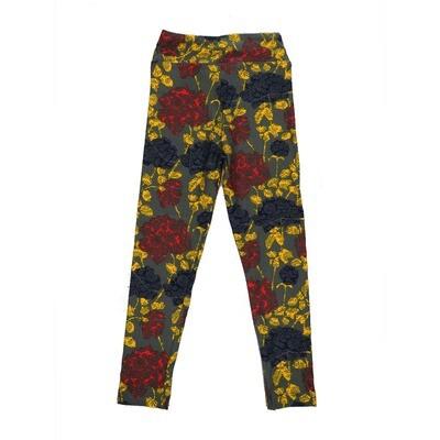 LuLaRoe Kids Small-Medium Floral Leggings ( S/M fits kids 2-8 ) SM-1002-L
