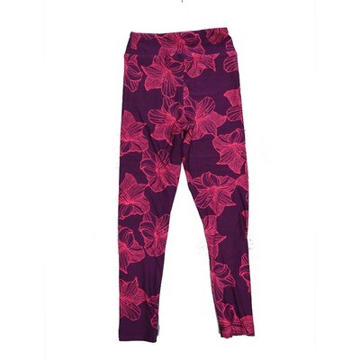 LuLaRoe Kids Small-Medium Floral Leggings ( S/M fits kids 2-8 ) SM-1002-Q