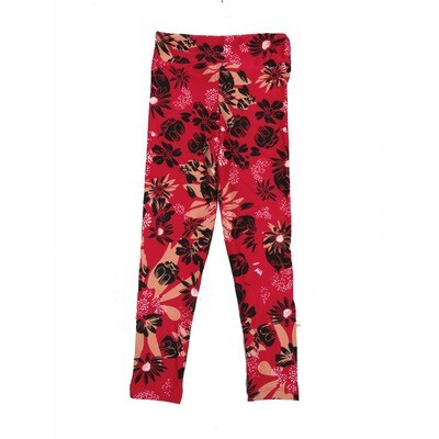 LuLaRoe Kids Small-Medium Floral Leggings ( S/M fits kids 2-8 ) SM-1002-S