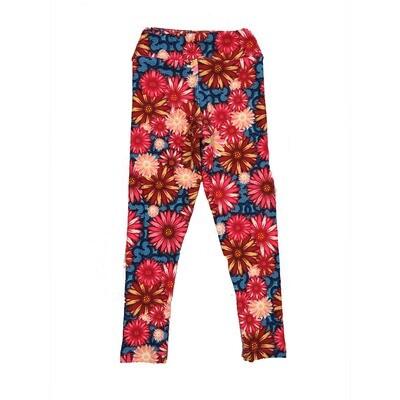 LuLaRoe Kids Small-Medium Floral Leggings ( S/M fits kids 2-8 ) SM-1003-M