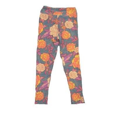 LuLaRoe Kids Small-Medium Floral Leggings ( S/M fits kids 2-8 ) SM-1006-E