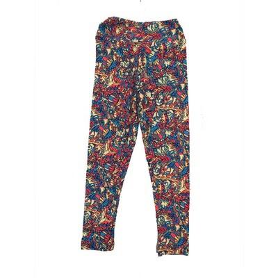 LuLaRoe Kids Small-Medium Floral Leggings ( S/M fits kids 2-8 ) SM-1003-W