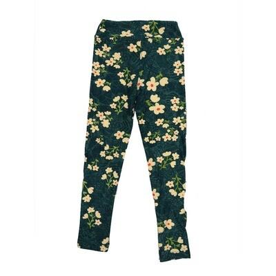 LuLaRoe Kids Small-Medium Floral Leggings ( S/M fits kids 2-8 ) SM-1006-J