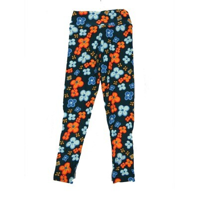 LuLaRoe Kids Small-Medium Floral Leggings ( S/M fits kids 2-8 ) SM-1007-B