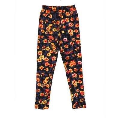 LuLaRoe Kids Small-Medium Floral Leggings ( S/M fits kids 2-8 ) SM-1007-F