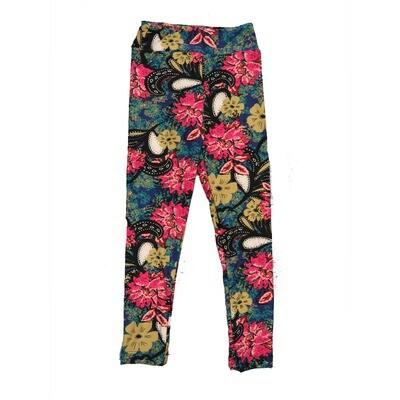 LuLaRoe Kids Small-Medium Floral Paisley Leggings ( S/M fits kids 2-8 ) SM-1002-M